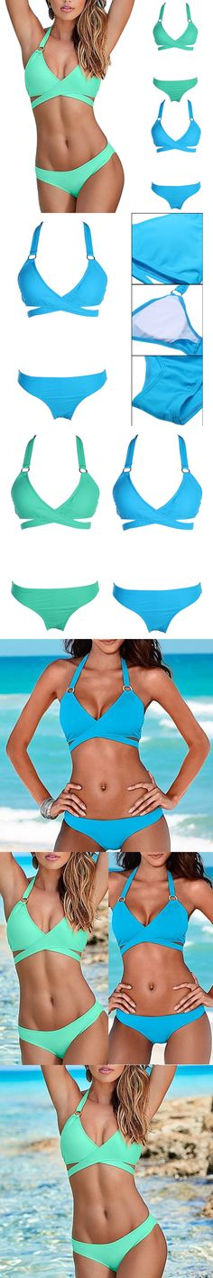 2018 Summer Women Bikinis Set Sexy Halter Bandage Women Swimsuits Brazilian Push Up Bathing Suits Swimwear Female Bikinis