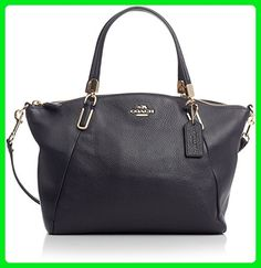 Coach Pebble Leather Small Kelsey Satchel - Midnight - Top handle bags (*Amazon Partner-Link)