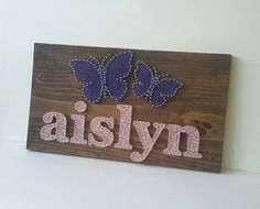 Personalized Name  String Art  Butterfly Wall by CarolinaStrings