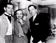 Clark Gable, Carole Lombard, and Walter Winchell, 1937
