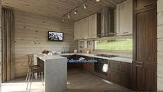 50+ Modern Walnut Kitchen Cabinets - Neutral Interior Paint Colors Check more at http://www.soarority.com/modern-walnut-kitchen-cabinets/