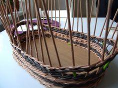 Moje pletení z papíru - Fotoalbum - Návody - Návod na třípárovou zavírku, další varianta.