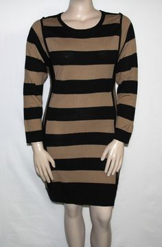 a855a485fc4 NEW Lennie for Nina Leonard Long Sleeves Striped Sweater Dress.