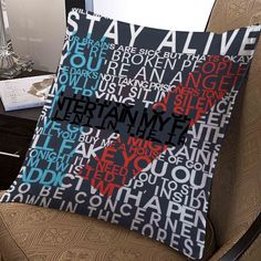 Tweenty One Pilots Quote cover album band pillow case two side 20x20 #Disney #Modern