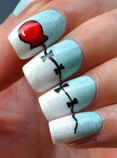 Balloon Nail Art inspired by Totally Cool Nails