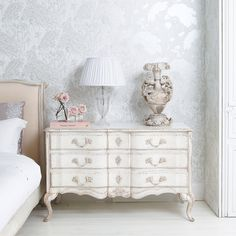 Delphine Distressed Painted Chest of Drawers | Drawers Cabinets | Storage | French Bedroom Company