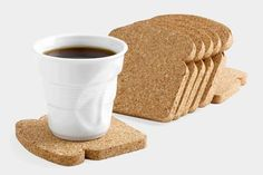Toast It Coasters from MoMA Design Store. Saved to Epic Wishlist. Shop more products from MoMA Design Store on Wanelo. Articles En Bois, Deco Paris, Moma Store, Sous Bock, Diy Upcycling, Cork Coasters, Drink Coasters, Gifts Under 10, Geek Gadgets