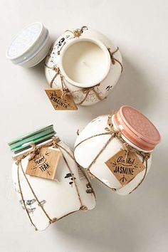 Kitchen ~Candle Jar Anthropologie - Land & Sky #candle #packaging