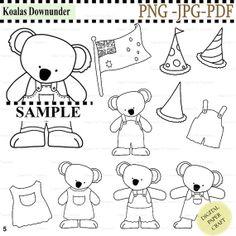 Koala Downunder Digital Stamps Australia Digistamp Instant Download