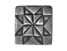 2 Danforth Sawtooth Star Pewter Metal Shank Buttons by ButtonJones, $7.60