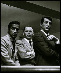 Sammy Davis Jr, Frank Sinatra and Dean Martin