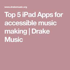 Top 5 iPad Apps for accessible music making Special Educational Needs, Drake, Ipad, Music, Top, Musica, Musik, Muziek, Music Activities