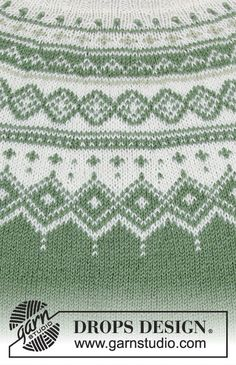 Perles du Nord / DROPS - Free knitting patterns by DROPS Design Perles du Nord / DROPS - The set includes: sweater with round yoke, multicolored Norwegian pattern and A-cut, knit. Jumper Patterns, Drops Patterns, Sweater Knitting Patterns, Knitting Stitches, Free Knitting, Drops Design, Magazine Drops, Finger Knitting, Fair Isle Pattern