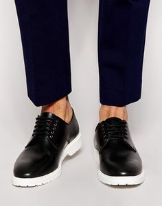 black casual shoes with white sole - 50