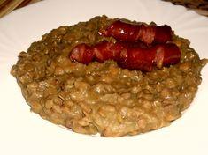 Čočka na rozmarýnu a česneku Sausage, Beans, Dinner, Vegetables, Food, Dining, Sausages, Food Dinners, Essen