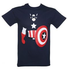 06bcc4847cc Men s Blue Marvel Captain America Vector T-Shirt