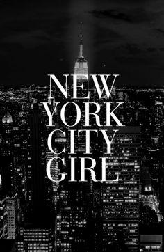 New York City Girl Black White iPhone Case Art Print