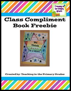 End of the Year Compliment Book Freebie