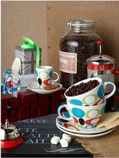 Pairing some unique coffee accessories with some delish beans is a fun gift for most on your list!