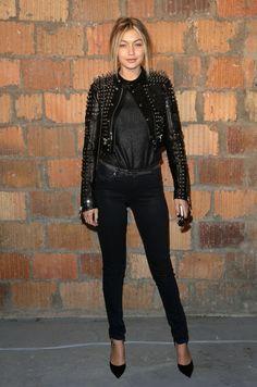Gigi Hadid & Coco Rocha attend Diesel Black Gold Fashion Show