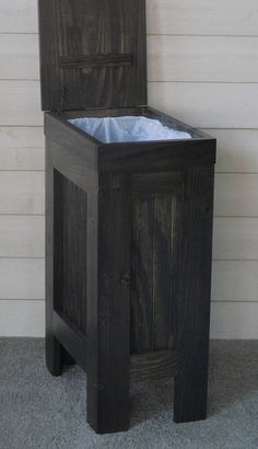 16 best wood trash can images woodworking furniture trash bins rh pinterest com