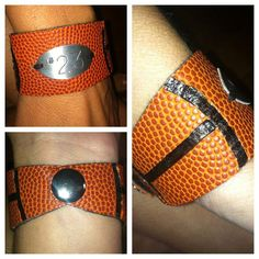 Personalized Basketball Bracelet by PeanutsNCrackerjacks on Etsy, $20.00