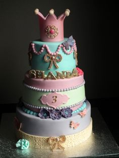 This is such a cute Princess birthday cake for a daughter ♥