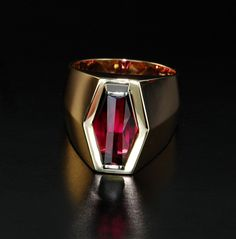 Fabulous Rubelite Ring! The Rubelite is designed by award winning gem artist Jean-Noel Soni. The ring was designed to complement the cut of the gem and the personality of the owner - the gem artist himself!