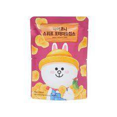 파머코니 스위트 포테이토칩스?type=u800_800 Pouch Packaging, Candy Packaging, Food Packaging Design, Branding Design, Image Chart, Sweet Potato Chips, Line Friends, Cartoon Design, Character Design