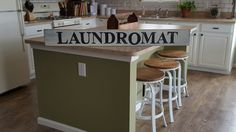 Laundromat Sign, Laundry Sign, Hand Painted Sign, Wood Sign, Rustic Sign, DIstressed Sign, Farmhouse Decor by RagdollAnnies on Etsy