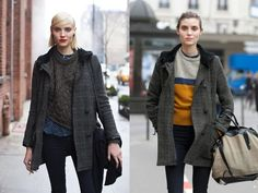 One Year Later – Same Girl, Same Coat, Totally Different Look By the sartorialist
