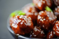 Sioux Falls Catering Appetizers - @Chef Jeni Cocktail Meatballs in Spicy Sweet Sesame Glaze - photography by @Cory Ann Ellis