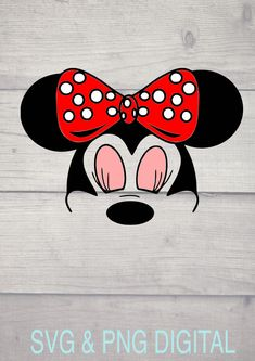 Minnie Mouse Head SVG and JPG Digital download, make decals for your phone, cricut by ChattyCrafterShop on Etsy