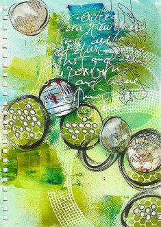 Possibilities art journal page by Robes-Pierre, via Flickr