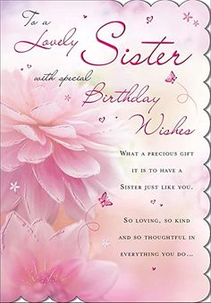 Birthday Greetings For Sister, 30th Birthday Cards, Happy Birthday Wishes Cards, Happy Birthday Celebration, Sister Birthday Quotes, Birthday Blessings, Happy Birthday Sister, Happy Birthday Images, Sister Quotes