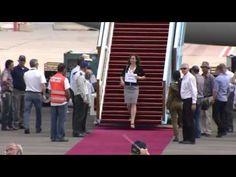 Obama in Israel: Probe Empfang US Präsident Obama auf Flughafen Flughafen Ben Gurion in Tel Aviv