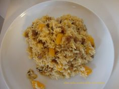 Risotto zucca, salsiccia e funghi, Ricetta Petitchef Raw Vegan, Pasta, Grains, Dolce, Food, Meal, Eten, Meals, Noodles