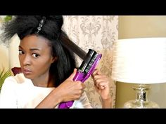 How To Straighten 4c Natural Hair - Instyler Max 2-Way Rotating Iron [Video]  Read the article here - http://blackhairinformation.com/video-gallery/straighten-4c-natural-hair-instyler-max-2-way-rotating-iron-video/