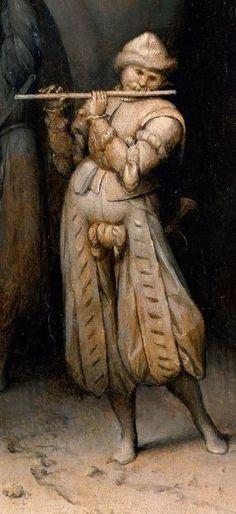 Three soldiers, 1568 by Pieter Brueghel the Elder (detail) Jan Van Eyck, Pieter Bruegel The Elder, The Magic Flute, Academic Art, Renaissance Paintings, Dutch Painters, Dark Backgrounds, 16th Century, Art Music