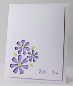 Thank You card by Geri - Manitoba Stamper