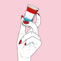 F O U R T H #illustration #4thofjuly #cheers #girlpower ❤️