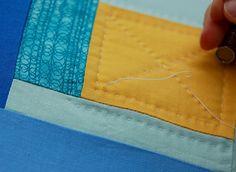 Hand quilting tutorial/Sew Mama Sew