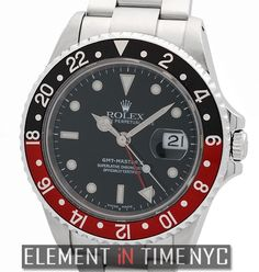 Element In Time   #Rolex GMT-Master II 16710 Stainless Steel Coke Bezel Black Dial Circa 2001