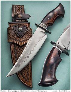 Sam Lurquin Custom Knives - Bowies/Campknives http://www.samuel-lurquin.com/BowiesCampsKnifes/index.html