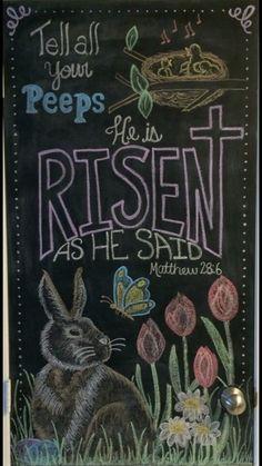 My Easter chalkboard - NB