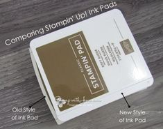 See a side by side comparison of the new style Stampin' Up! ink pad and old style. Reasons why the style has changed are listed. Soft Suede, Stampin Up, Cards Against Humanity, Colours, Change, Ink, Crafts, Tools, Style