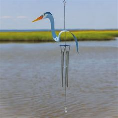 Birds of a Feather Blue #Heron Windchime.  #windchime #windchimes