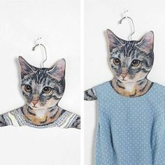 Cat hangers. LOL!!! Oh my gosh I want this!