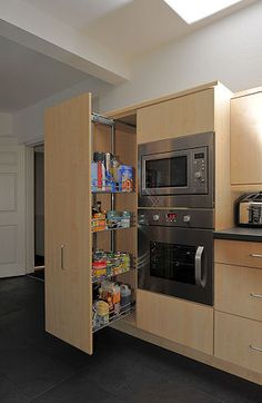 Pull out pantry so you can easily see what you have