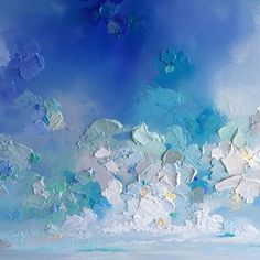 MELISSA MCKINNON Contemporary Abstract Landscape Painter features BIG COLOURFUL PAINTINGS of coastal seascapes, big skies, mountains and ocean beaches. Abstract landscape painting of clouds, sky, beach coast and crystal blue ocean.